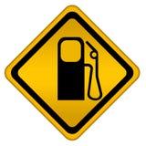 Het teken van het benzinestation Stock Fotografie