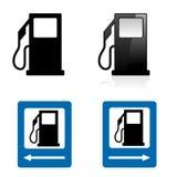 Het teken van het benzinestation Stock Foto