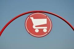 Het teken van het boodschappenwagentje Stock Afbeeldingen