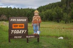 Het teken van het brandgevaar stock foto's