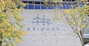 Het Teken van het Bruggencentrum, Memphis TN Stock Foto's
