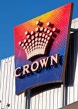 Het Teken van het Casino van de kroon, Melbourne - Januari 28, 2010 Royalty-vrije Stock Foto