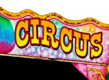 Het teken van het circus royalty-vrije stock foto's