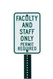 Het teken van het de faculteitsparkeren van de school Royalty-vrije Stock Foto's