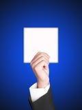 Het teken van het document met Bedrijfshand Stock Fotografie