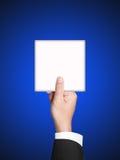 Het teken van het document met Bedrijfshand Stock Afbeeldingen