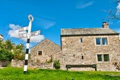 Het teken van het dorp, Hesket Newmarket Stock Afbeelding