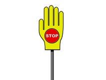 Het teken van het EINDE in palmteken Royalty-vrije Stock Afbeelding