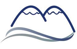 Het Teken van het Embleem van de berg Stock Foto