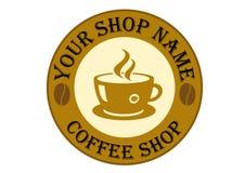 Het Teken van het Embleem van de Winkel van de koffie Stock Foto's
