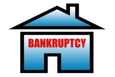 Het teken van het faillissement vector illustratie