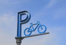 Het teken van het fietsparkeren Stock Foto