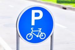 Het teken van het fietsparkeren Royalty-vrije Stock Fotografie