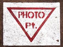 Het teken van het fotopunt ter plaatse Royalty-vrije Stock Afbeeldingen