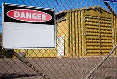 Het teken van het gevaar Royalty-vrije Stock Foto