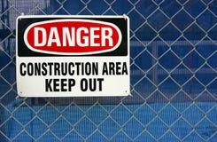 Het teken van het gevaar Stock Foto