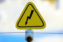 Het teken van het gevaar Royalty-vrije Stock Foto's