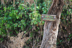 Het Teken van het Honuparkeren op Schildpadstrand in het Noordenkust, Oahu, Hawaï Royalty-vrije Stock Foto's