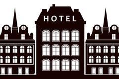 Het teken van het hotel royalty-vrije illustratie