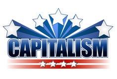 Het teken van het kapitalisme royalty-vrije illustratie