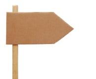 Het teken van het karton Stock Afbeeldingen