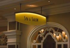 Het Teken van het kuuroord & van de Salon Stock Afbeelding