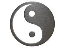 Het teken van het metaal ying yang Royalty-vrije Stock Afbeelding