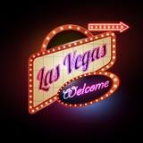 Het teken van het neon Las Vegas royalty-vrije illustratie