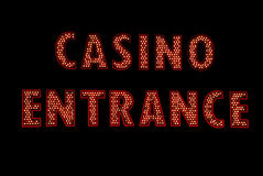 Het Teken van het Neon van de Ingang van het casino Stock Afbeeldingen