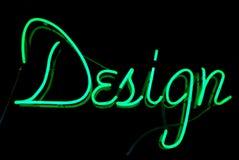 Het Teken van het Neon van het ontwerp Stock Foto