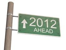 Het teken van het nieuwjaar 2012. 3d illustratie Stock Afbeeldingen
