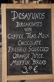 Het Teken van het ontbijt Royalty-vrije Stock Foto