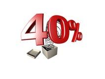 Het teken van het percentage Stock Foto's