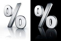 Het teken van het percentage op witte en zwarte vloer royalty-vrije illustratie