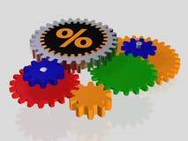 Het teken van het percentage - toestel royalty-vrije illustratie