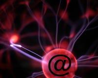 Het teken van het plasma e-mail stock fotografie