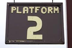 Het teken van het platform Stock Foto