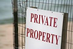 Het Teken van het Privé-bezit van het strand Stock Foto