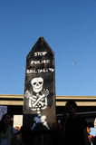 Het Teken van het protest van bezet Oakland Maart, 2 Nov., '11 Stock Foto's