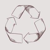 Het teken van het recycling Royalty-vrije Stock Afbeelding