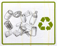 Het teken van het recycling Stock Foto
