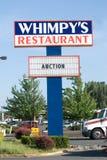 Het teken van het restaurant van uit bedrijfszaken Stock Afbeelding