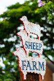 Het teken van het schapenlandbouwbedrijf Royalty-vrije Stock Afbeelding