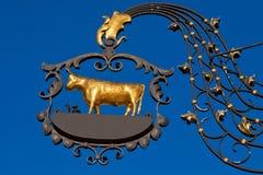 Het teken van het smeedijzer - klaar voor uw etiket Royalty-vrije Stock Afbeelding