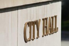 Het Teken van het stadhuis Stock Foto