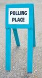 Het teken van het stemlokaal Royalty-vrije Stock Foto
