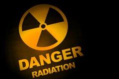 Het teken van het stralingsgevaar Stock Fotografie