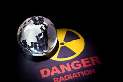Het teken van het stralingsgevaar Royalty-vrije Stock Afbeeldingen