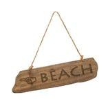 Het Teken van het strand stock foto's