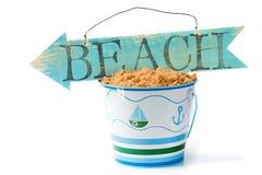 Het teken van het strand Stock Foto